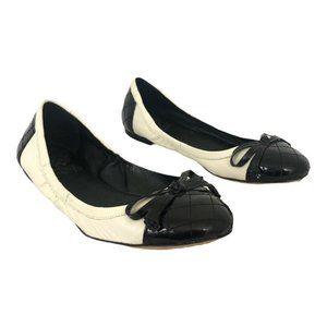 Vince Camuto Fico Black White Ballet Flat